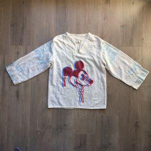 FINE ART Trippy Mickey Mouse Shirt Handmade/ Muck